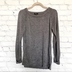 Cupid gray sweater with silver threads medium